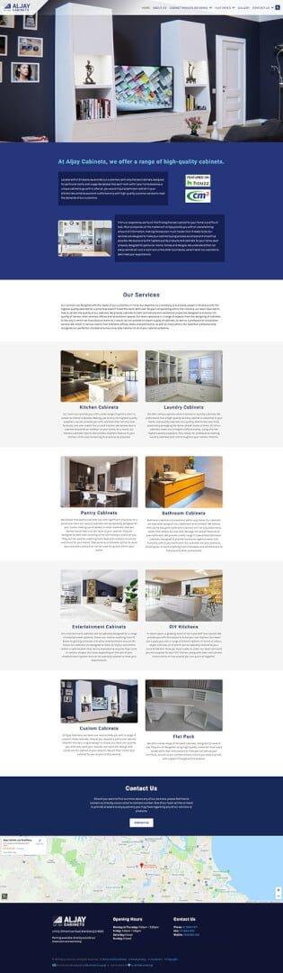 Aljay Cabinets: Desktop View