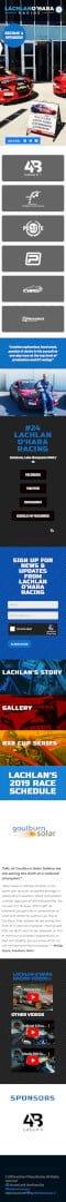 Lachlan O'Hara Racing: Mobile View
