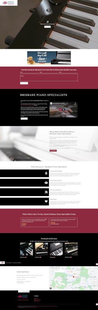 Morris Brothers Pianos: Desktop View