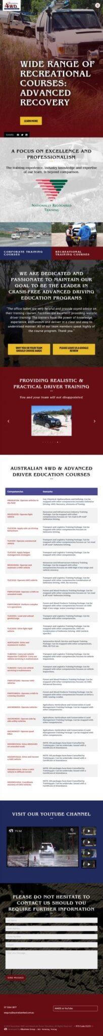 Australian 4WD Advanced Driver Education: Tablet View