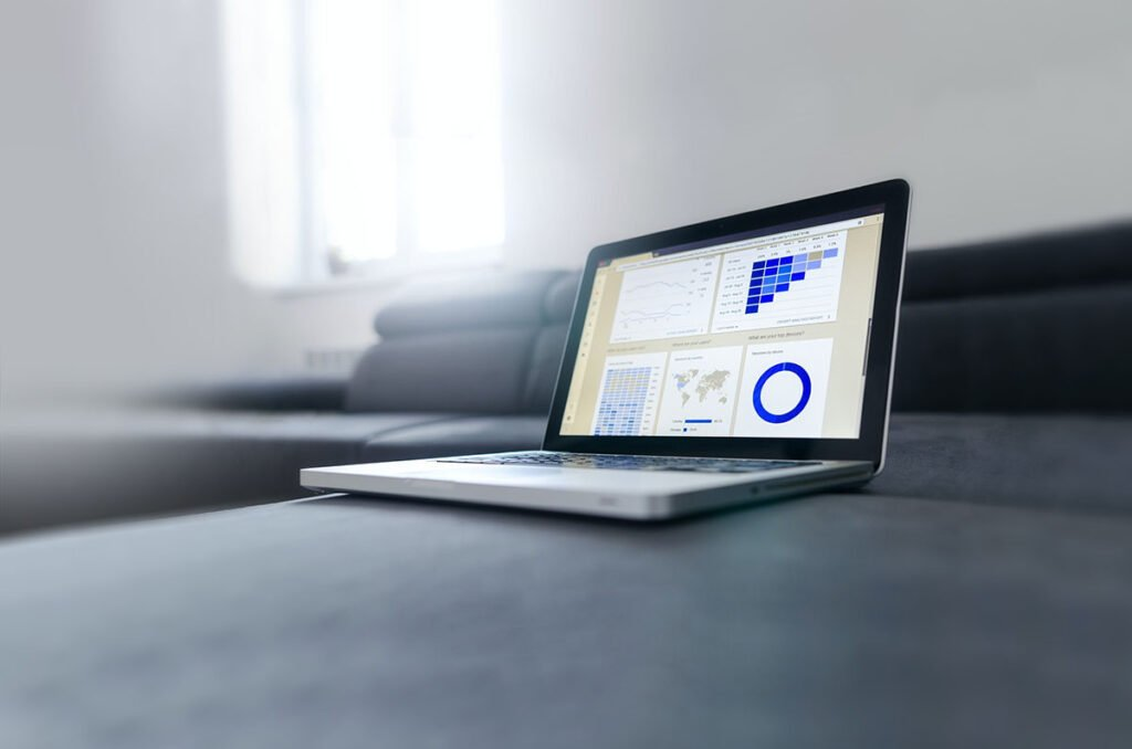 SEO results on laptop