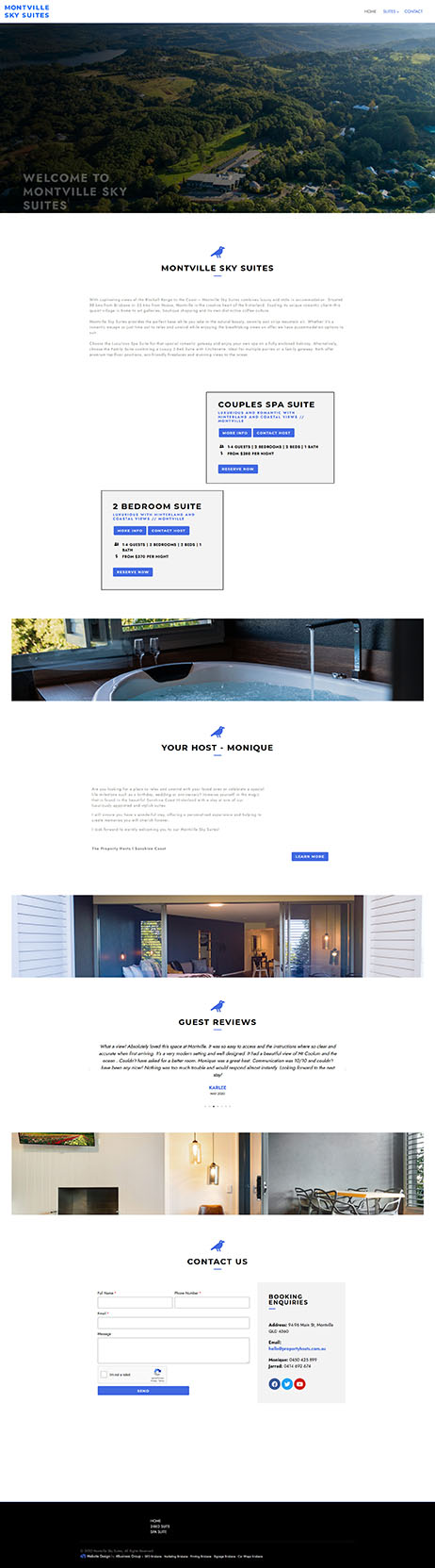 Montville Sky Suites: Desktop View
