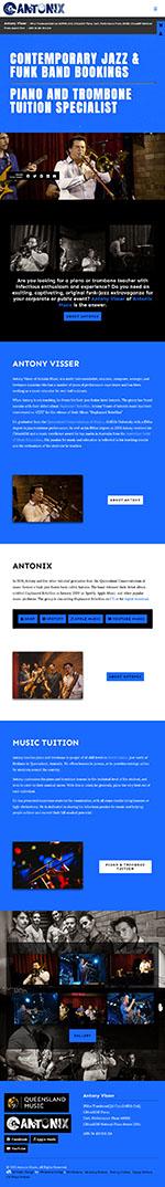Antonix Music:Tablet View