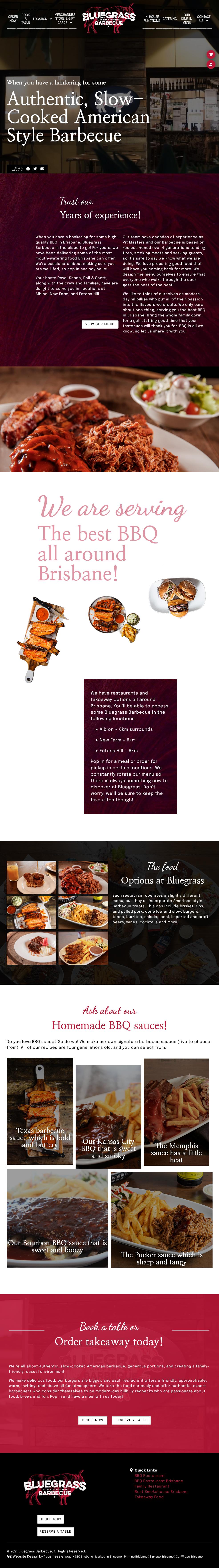 Bluegrass BBQ: Mobile View