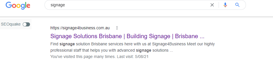 Signage4Business ranking proof