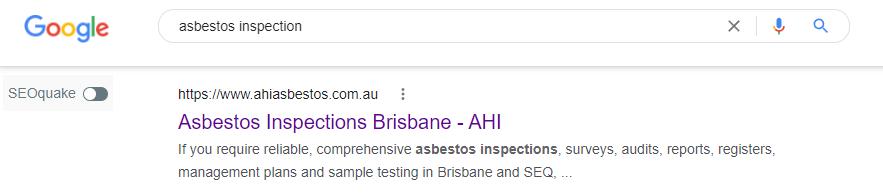 AHI Asbestos ranking proof