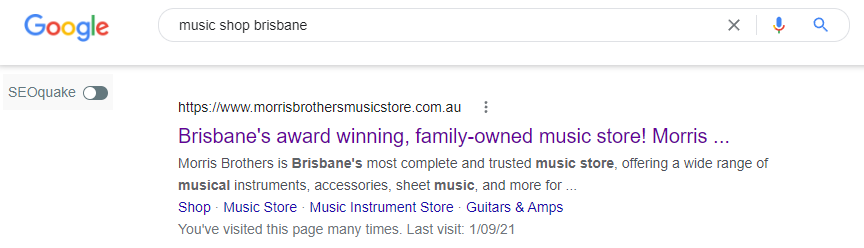 Morris Brothers Musical Store ranking proof